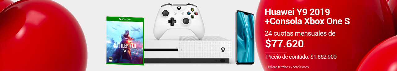 Combo Huawei Y9 + Consola Xbox One S